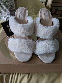 Brand new Faux Fur heels
