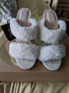 Brand new Faux Fur heels
