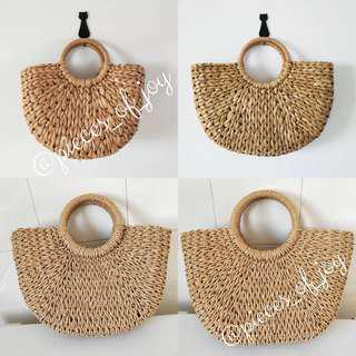 [PO] Rattan/Wicker Baskets Bali Straw Bags #POJPO