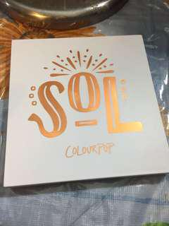 SOL colourpop eye shadow palette