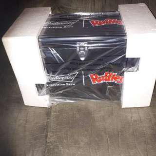 Budweiser Ruffles Black Metal Cooler Only 3000 Made Brand New