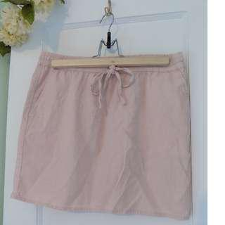 Light Pink Linen Skirt