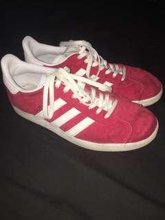 Red adidas gazelle