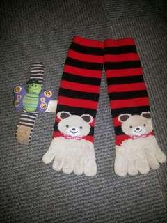 Bear sock with lamaze