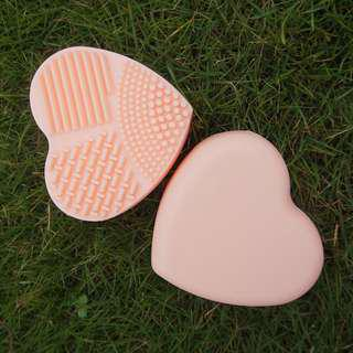 Heart Shaped makeup brush cleaner