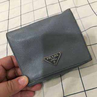 Prada trifold saffiano wallet