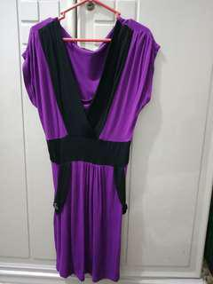 Dress Ungu Casual Murah