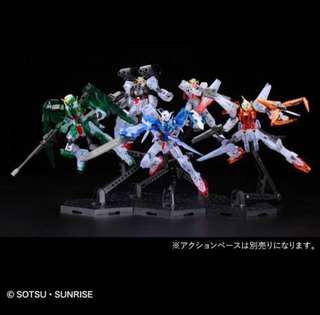 HG Gundam 00 1st Season MS Set (Clear Color)