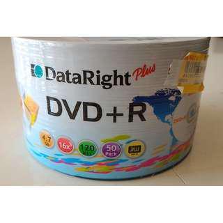 Dataright Plus DVD+R 4.7Gb 16x120min x 50pcs