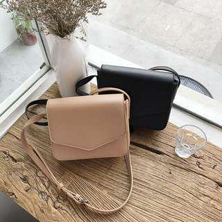 [INSTOCKS] Gwendolyn Crossbody Sling Bag in Apricot and Black