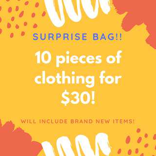 MYSTERY BAG OF CLOTHING!