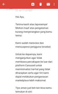Thank's buat tim carousell🙏🙏🙏🙏🙏