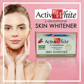 GLUTATHIONE Capsules by ACTIVE WHITE (Made in USA)