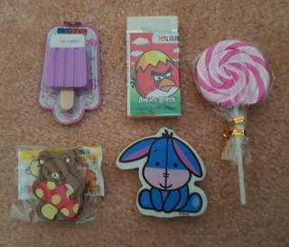 Assorted Cute Erasers