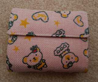 Cute Pink Bear Wallet