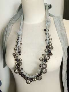 Silver beads necklaces / belly dance belt