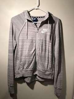 Nike beige zip hoodie