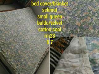 bed cover/alas tilam /blanket/selimut queen size