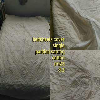 bedsheets cover / alas tilam 3-4 inch size single