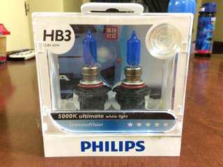 Philips DiamondVision 5000K Ultimate White Light HB3 Halogen Bulb