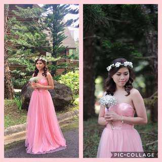 Pink gown for sale