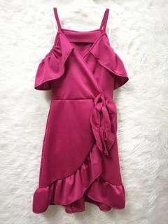 Maroon Dress for Kids