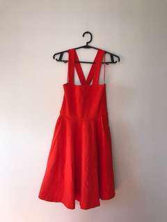 BRAND NEW-NO TAG Zara Red Orange Dress