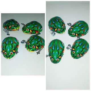 Vintage Frog Tin Toy