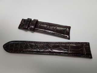 21mm brown genuine alligator Jaeger lecoultre strap - Price reduction