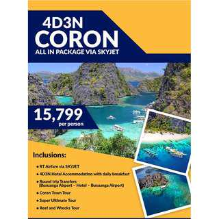 4D3N ULTIMATE CORON ALL IN PACKAGE FOR 2019 (Php5,000/PERSON ONLY TO CONFIRM)