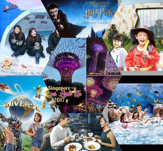 Uss/snow city/adventure cove water park/sea aquarium/Paris Disney/everland/Lotte/cable car