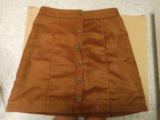 Suede A-line skirt size 00 hollister