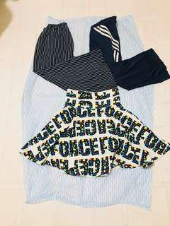 Culottes and Adidas Pants Bundle