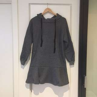 Thick hoodie dress