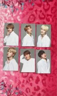 VT X BTS official photocards