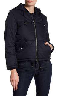 EUC Topshop black puffer jacket RRP $170