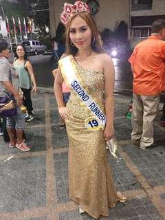 Long Gonwn Gold Sequins for Rent only