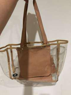 Zara transparant bag