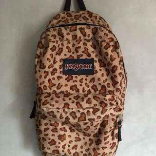 Jansport Large Backpack Pink Leopard not the north face herschel anello adidas nike