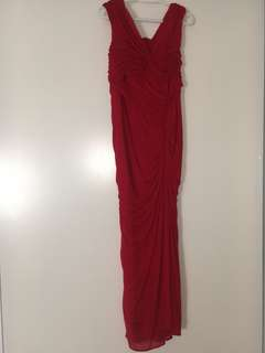 WOMENS SIZE 14 RED DRESS