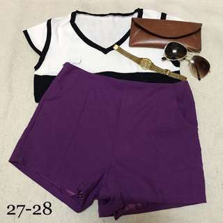 HW Cotton Shorts Violet