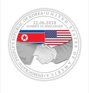 United States - North Korea Summit 2018 medallion