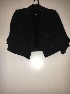Lili size 10 black mini blazer