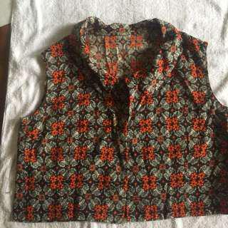 Floral Croped Vest