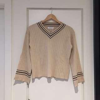 Latte knit wear