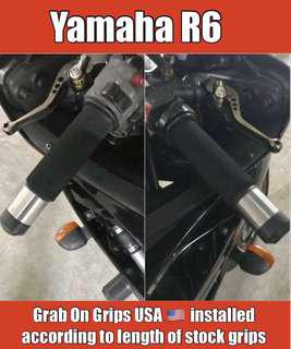 Grab On Grips - Made In USA 🇺🇸 on Yamaha R6 INSTALLATION... FREE POSTAGE.. Same material as puppies but at much cheaper price !!!