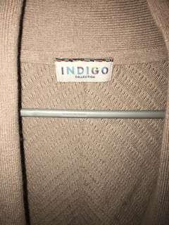 Marks and Spencer Indigo Tan Sweater UK 8