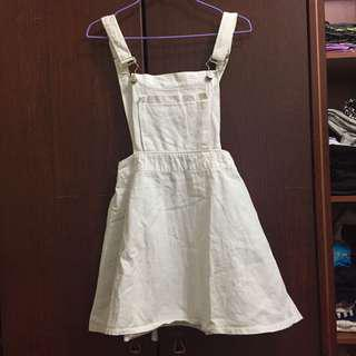 White Mini Pinafore