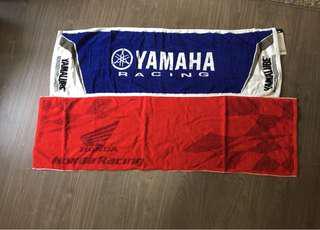 Honda & Yamaha Face Towels