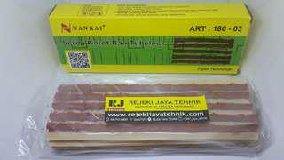Karet Tambal Ban Tubeless Serep Refill Tire Patch Nankai Set 25pcs
